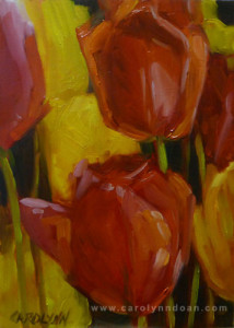 """Love Red - Oil - 7"""" x 5"""""""